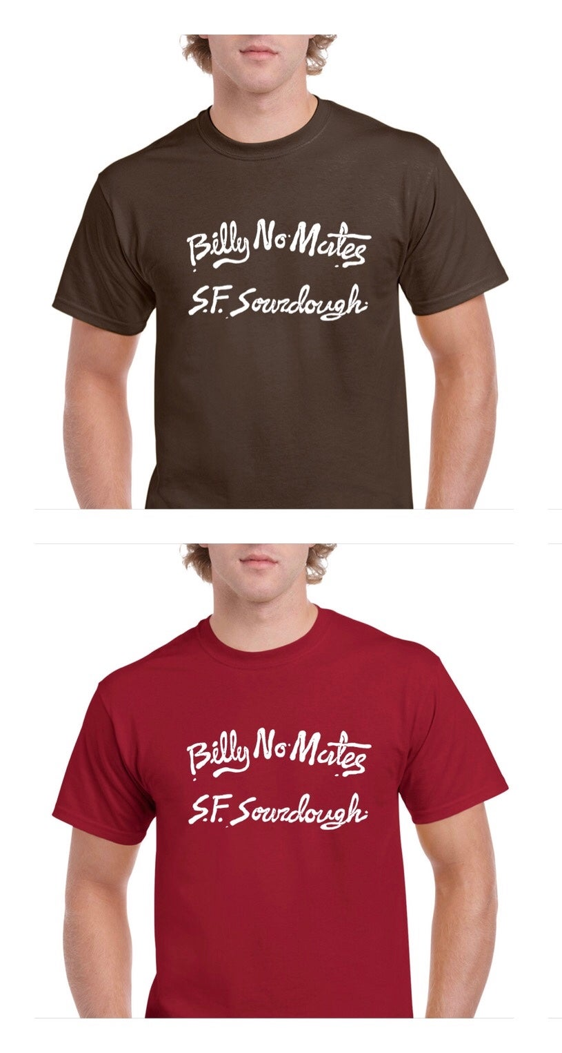 Billy No Mates - Sourdough Logo Print T-Shirt (Choco/Red)