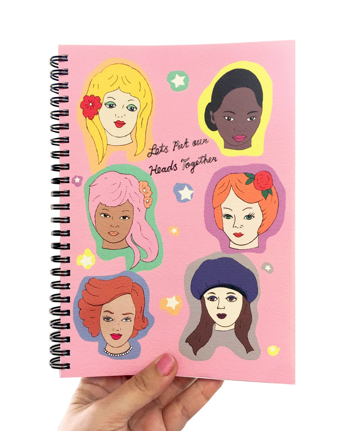 Lets Put Our Heads Together Ladies A5 Spiral Notebook