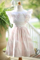 Image 2 of Beatrix Potter Pink Toile Pinafore Dress