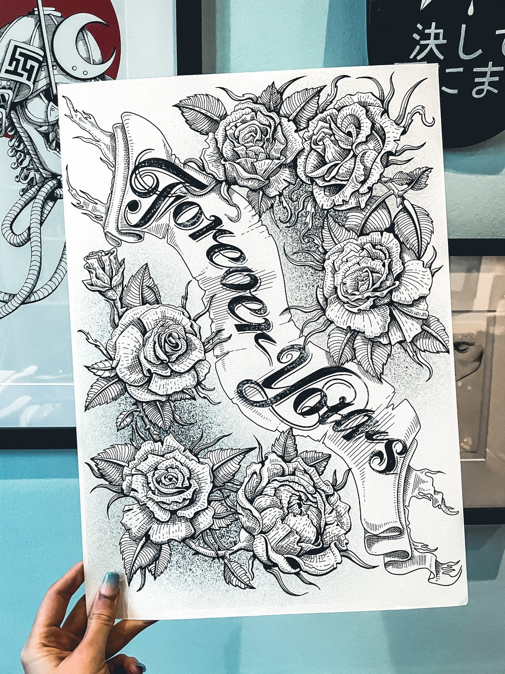 Forever Yours print and card combo
