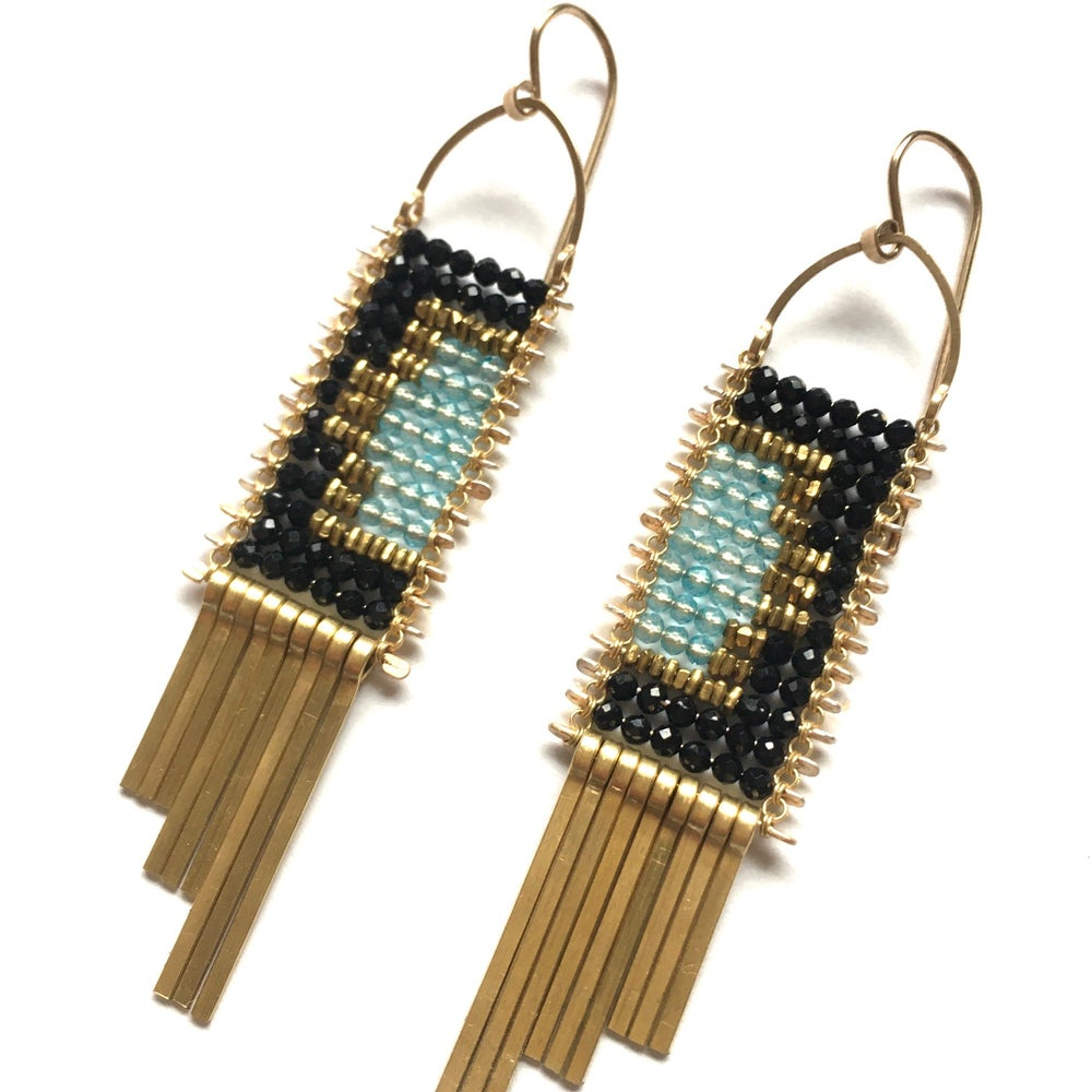 Image of Window to the Sky Tapestry Earrings