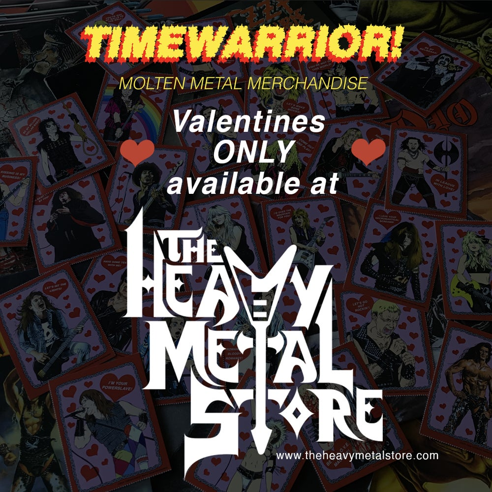 Image of Heavy Metal Heroes Valentine's Day Cards