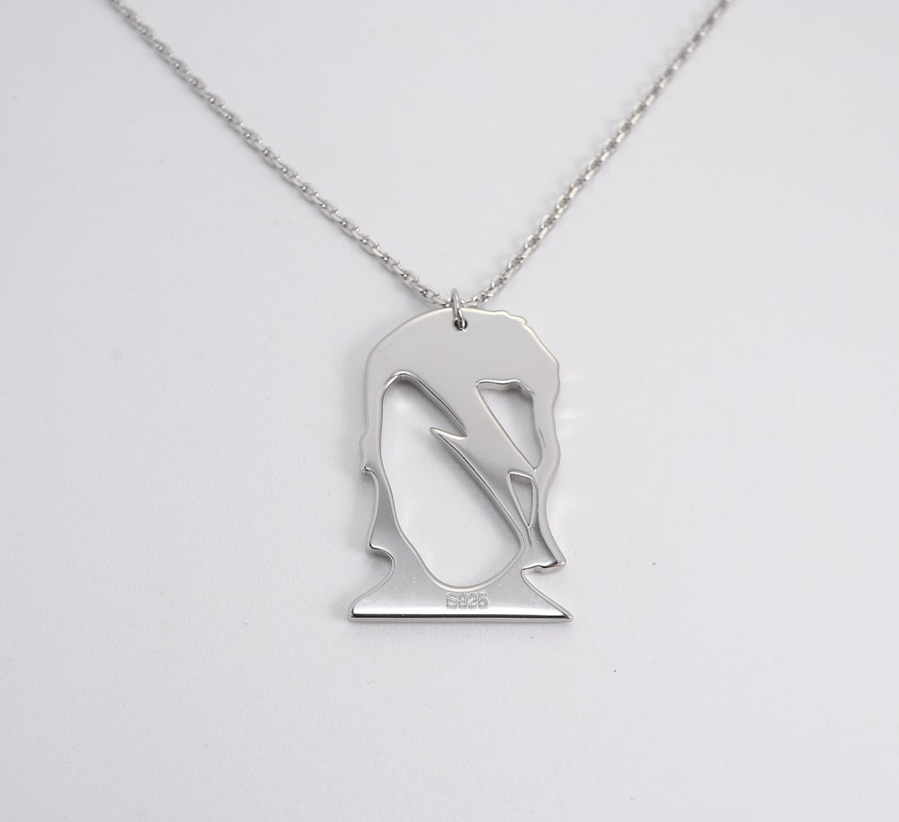 Bowie Inspired Pendant and Chain (925 Silver)