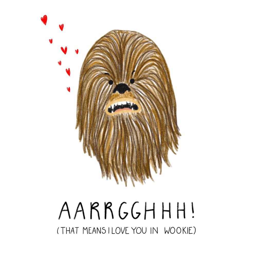 Image of Star Wars Chewbacca Valentine's Card