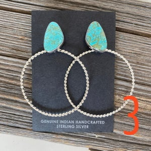 Cowgirl Turquoise Hoops
