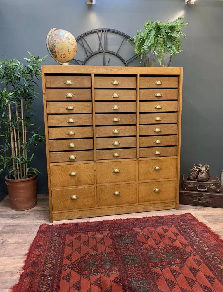 Image of Vintage haberdashery cabinet