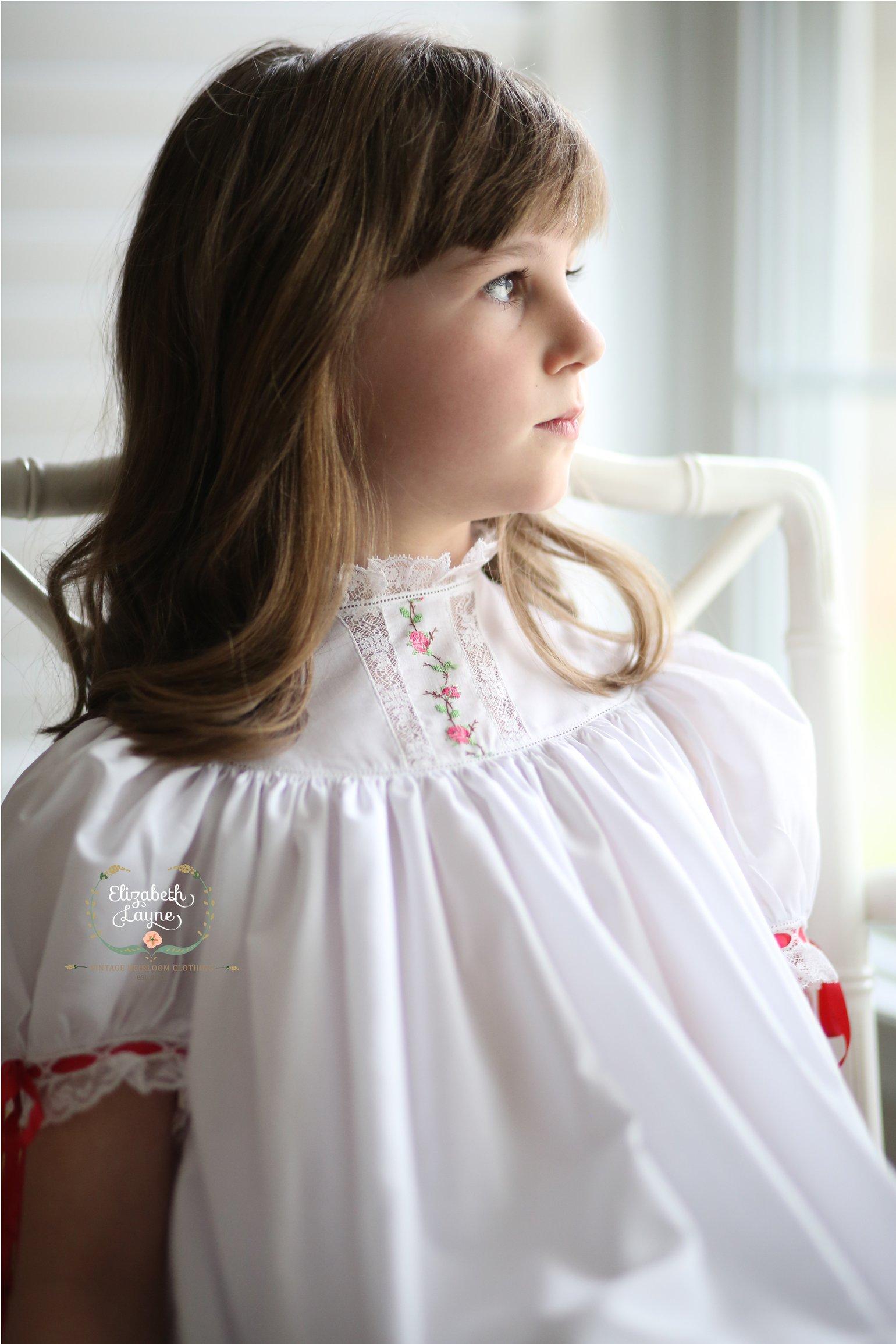 Image of Rose Handloom Insertion Dress