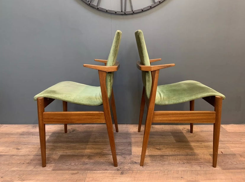 Image of Stylish pair of rare mid century chairs