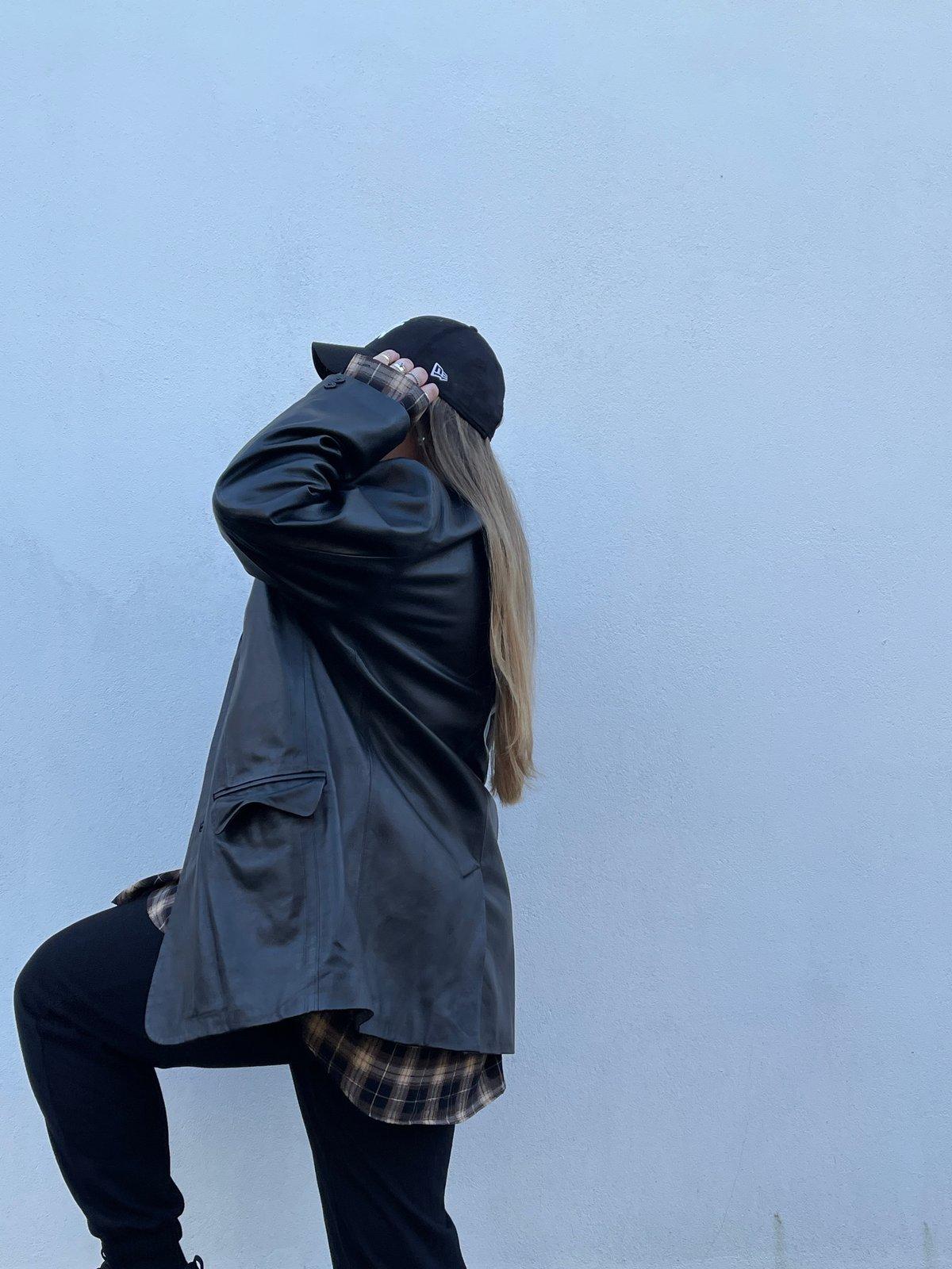 One Off Black Leather Jacket