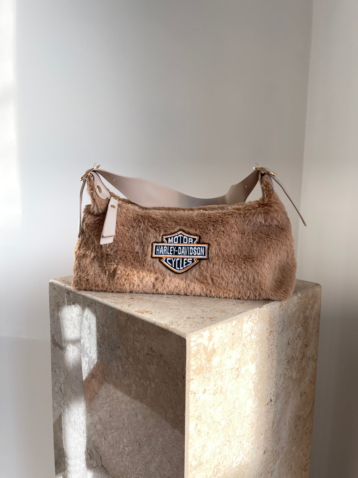 Faux Fur Harley Patch Bag