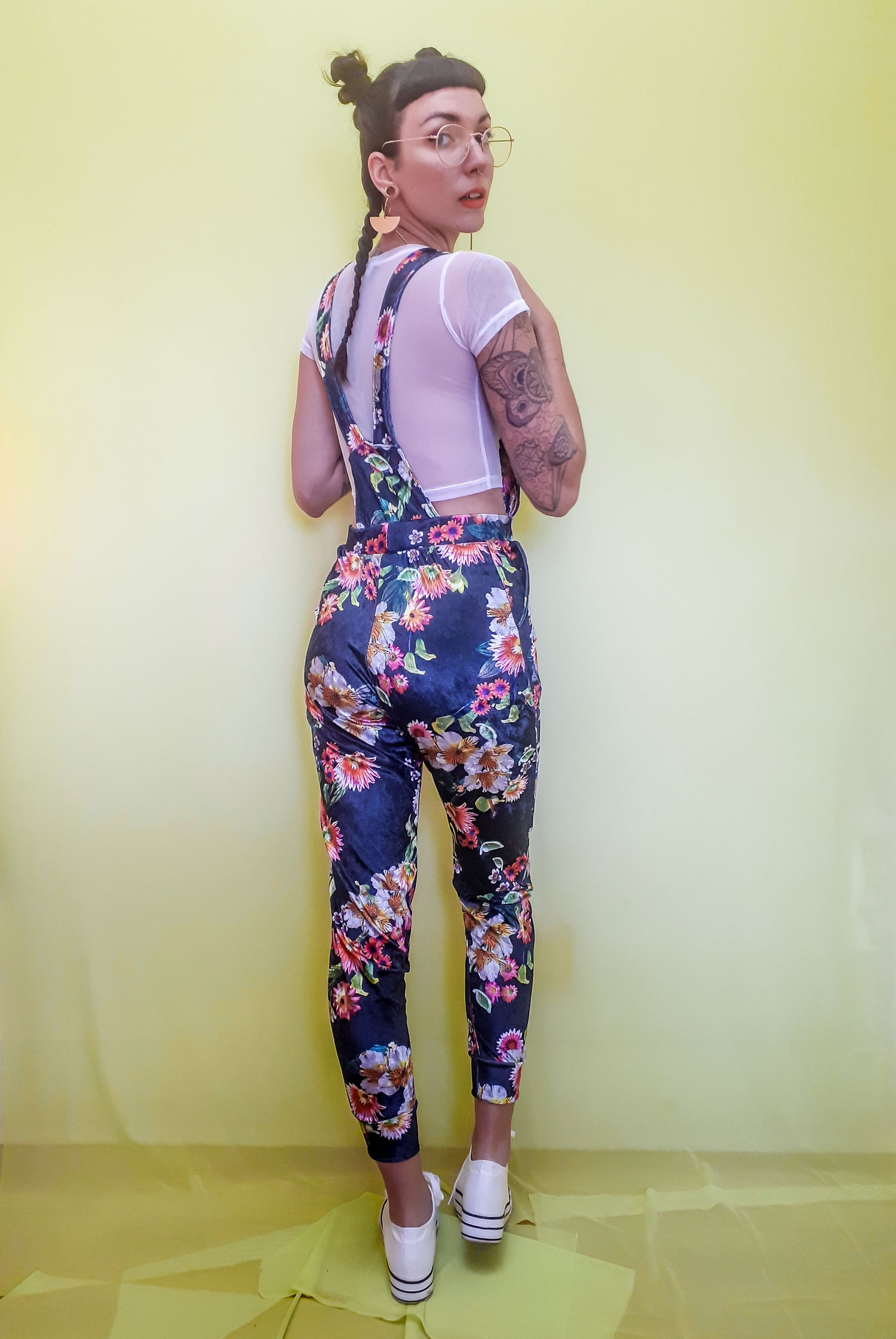 Image of Custom Stretchy High Waist Overalls