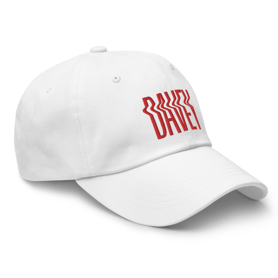 Image of White Davey Dad Hat