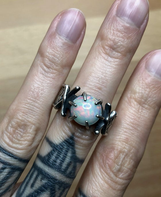 Image of Ready to Ship // Nazgûl Ring with OOAK Opal