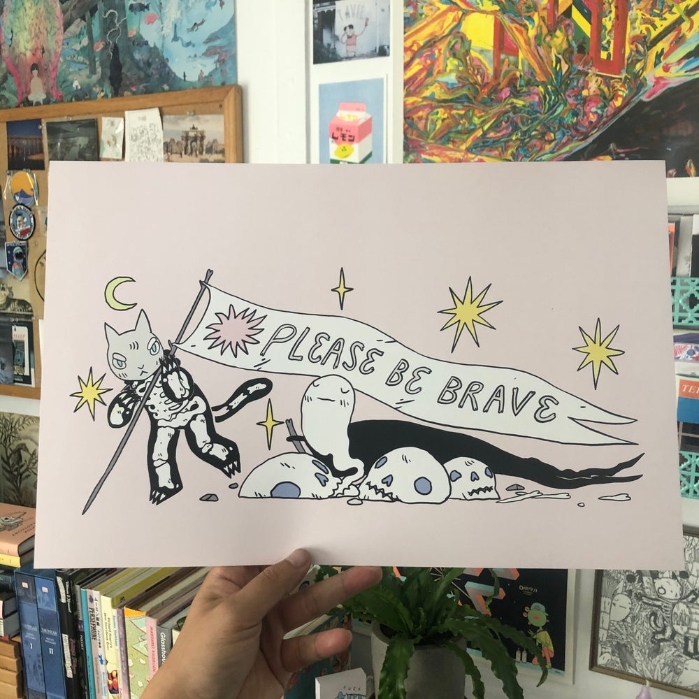 Image of Please Be Brave Poster