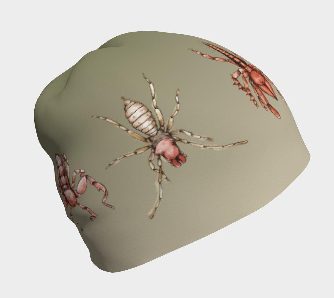 Image of Arachnids beanie hat - green