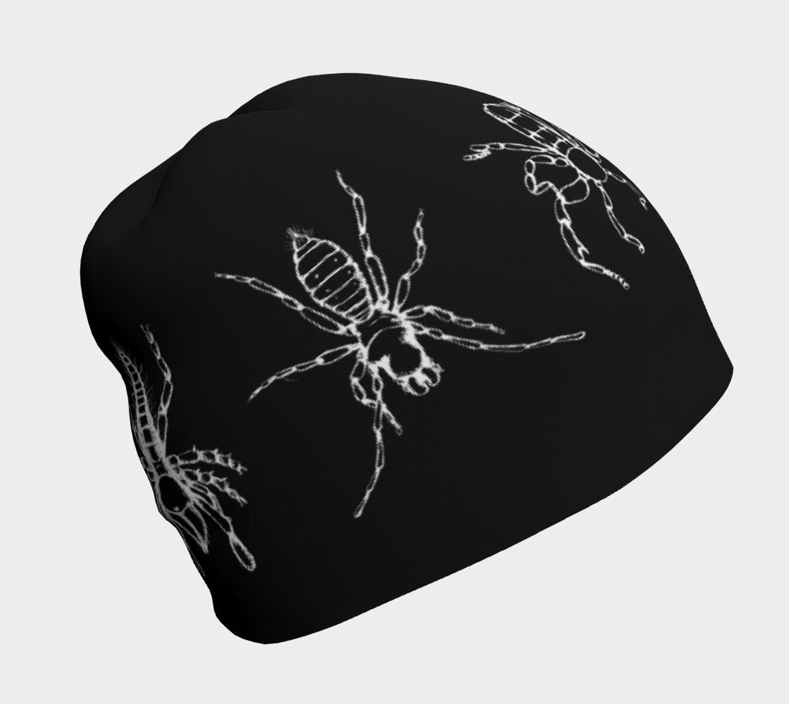 Image of Arachnids beanie hat - black & white
