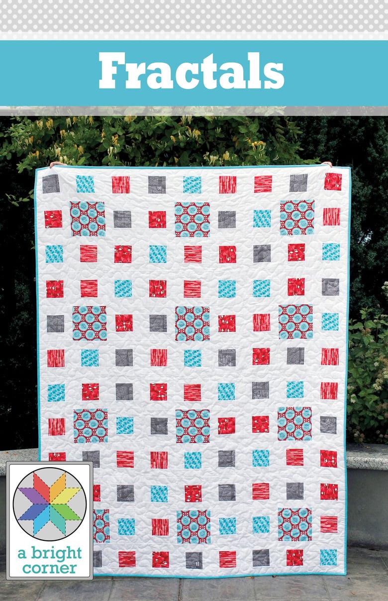 Image of Fractals Quilt Pattern - PAPER pattern