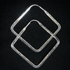 Classic Square Hoops from Tawapa