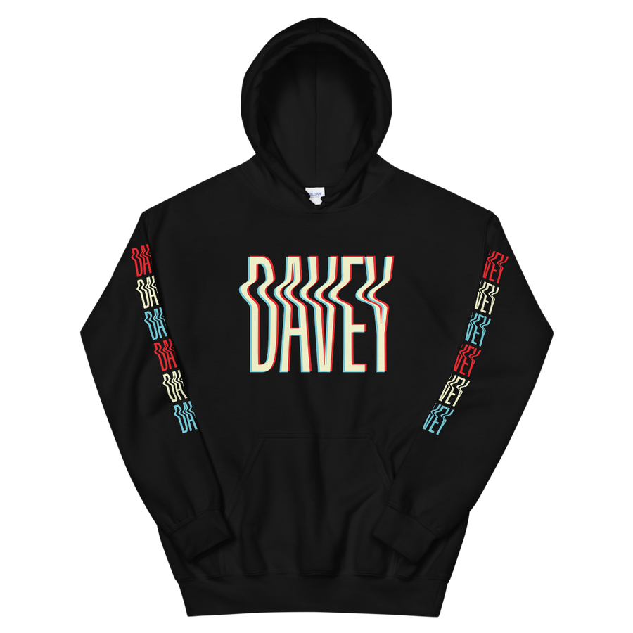 Image of Davey Hoodie with Printed Sleeves
