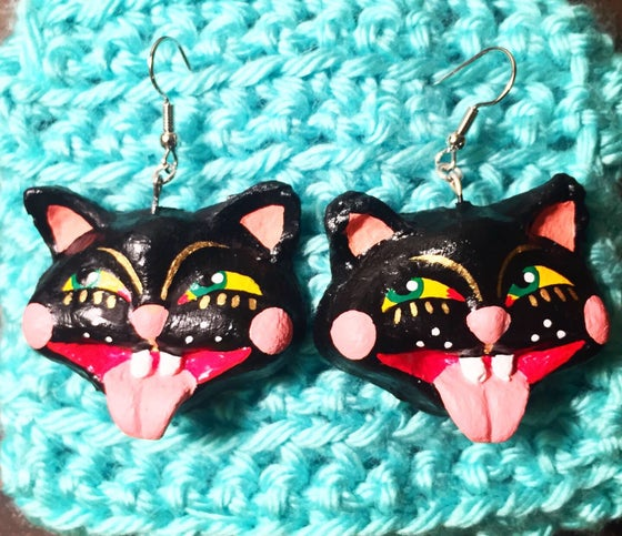 Image of Ron the Cat Earrings