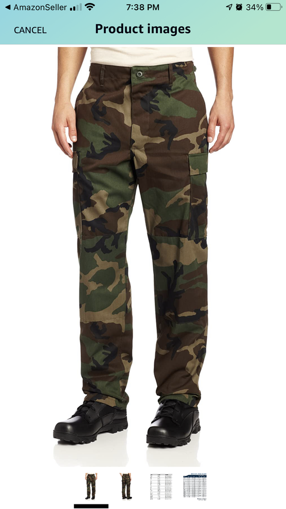 Image of Propper Camo woodland bdu pants