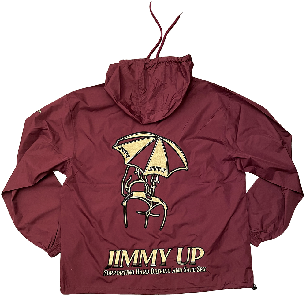 Image of *48 HOUR PRE-ORDER* Umbrella Girl Embroidered / Waterproof Jacket MAROON