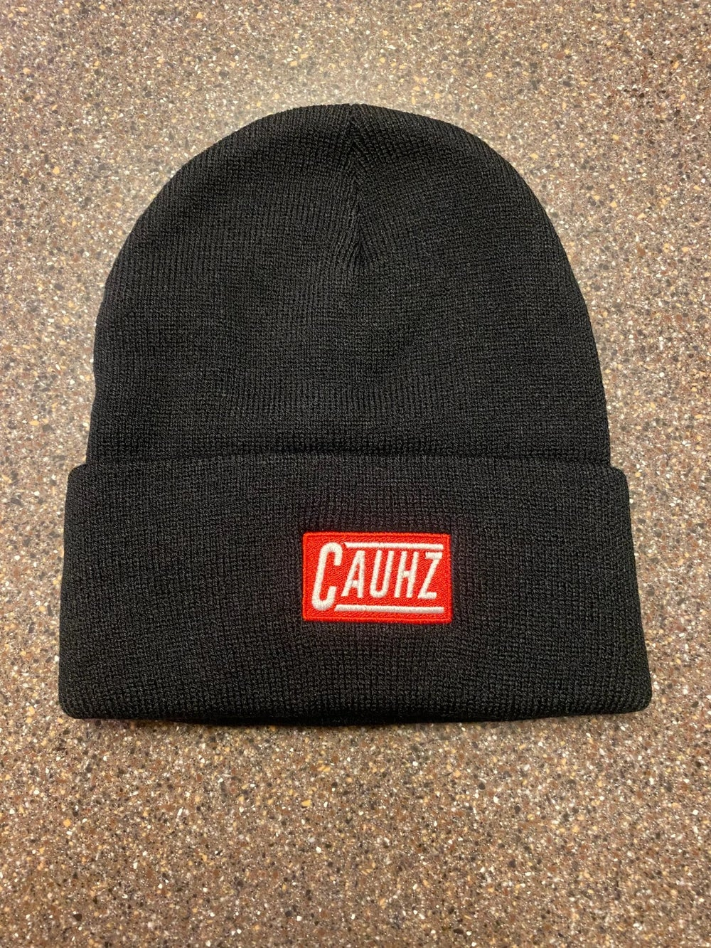 CAUHZ™️ BLACK LOGO STITCHED BEANIES