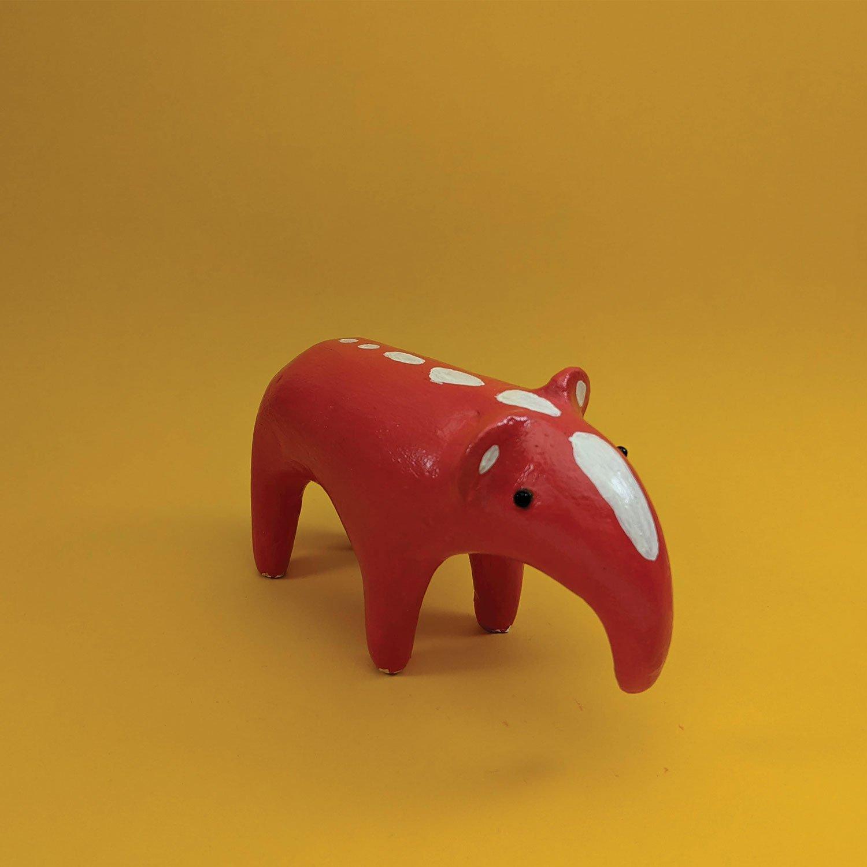 """Red Tapir Sculpture - """"Harald"""""""