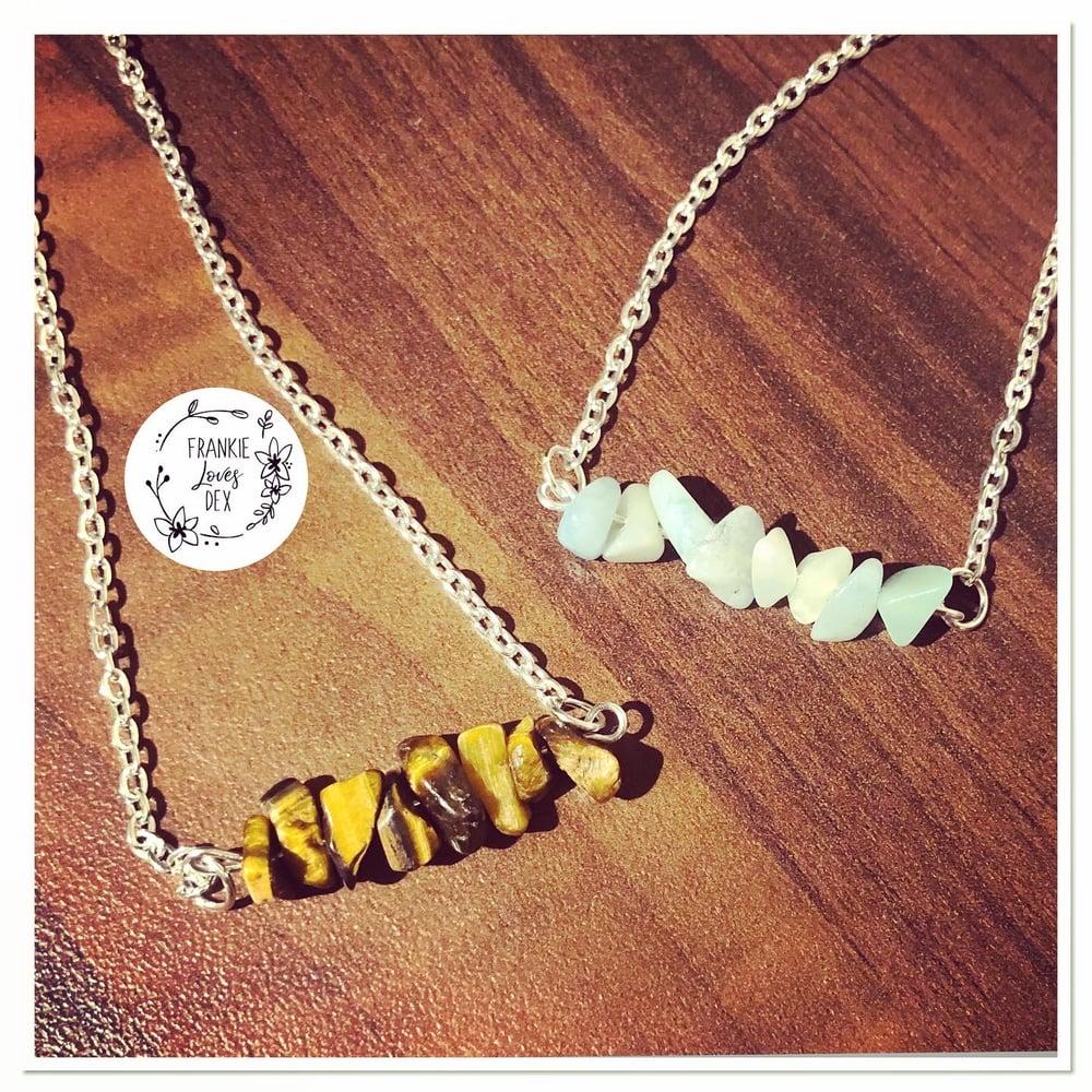 Image of Semi precious cluster necklace