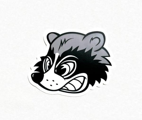 Image of Wild Racing Raccoon sticker