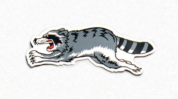 Image of Triumph-style Trash Cat Sticker (Left Facing)