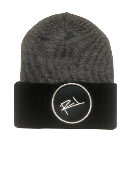 Image of ReL Brand 2 Tone Blackpatch Beanie (GRAY & BLACK)