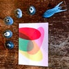 Colourful oval greetings cards