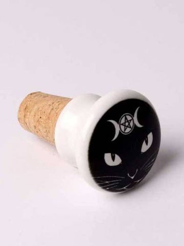 Image of ALCHEMY GOTHIC Triple Moon Cat: Bottle Stopper