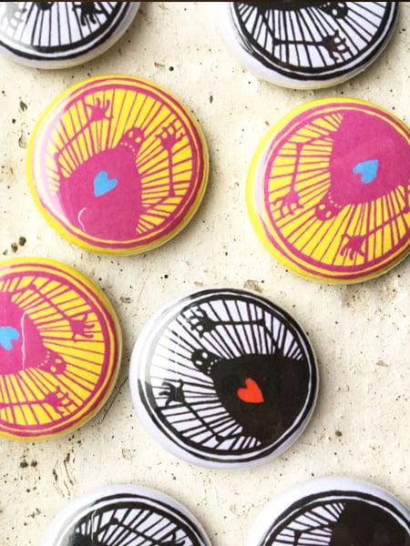 Image of robot pin badges