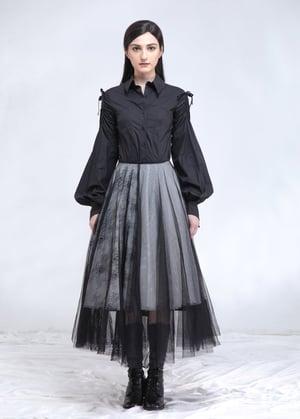 Image of SAMPLE SALE - Black & White Layered Tulle Skirt
