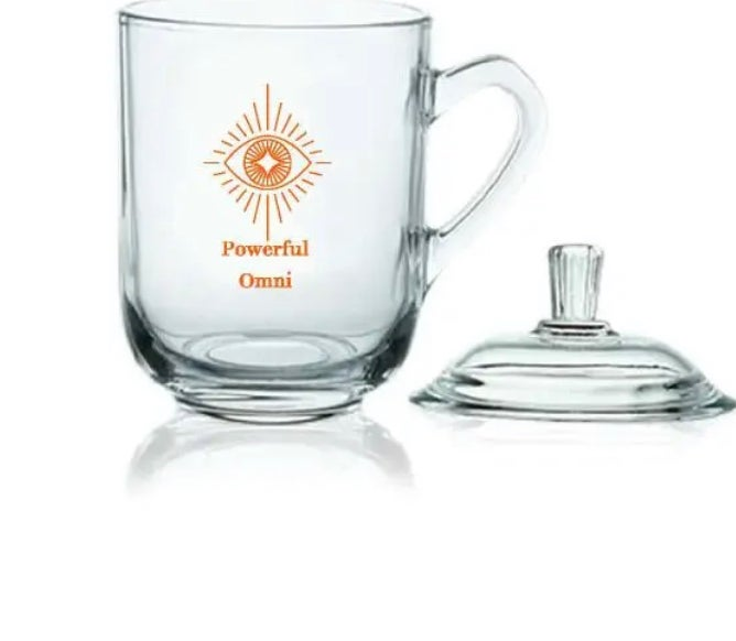 Clear glass tea cup