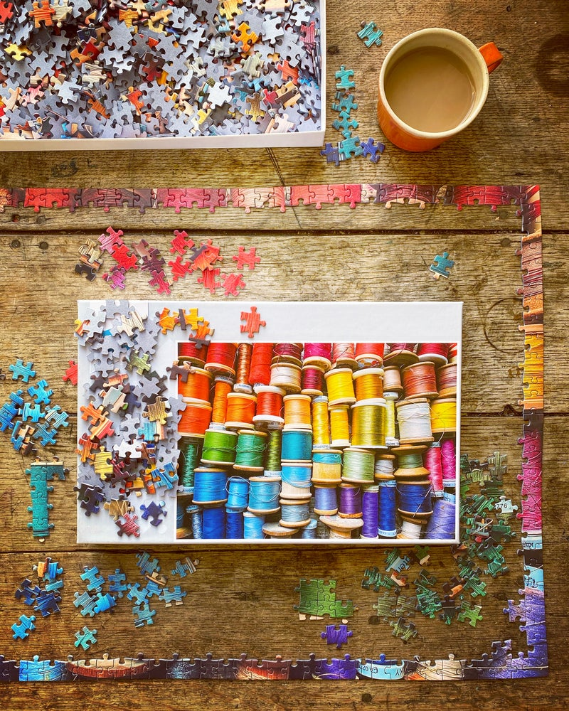 Image of 'Colourful Cotton Reels' - 1000 Piece Jigsaw