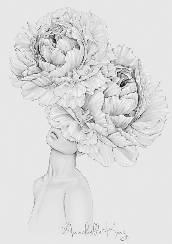 Image of Flourish -A3 original pencil artwork