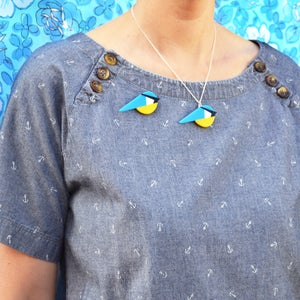 Image of Blue Tit Brooch or Necklace