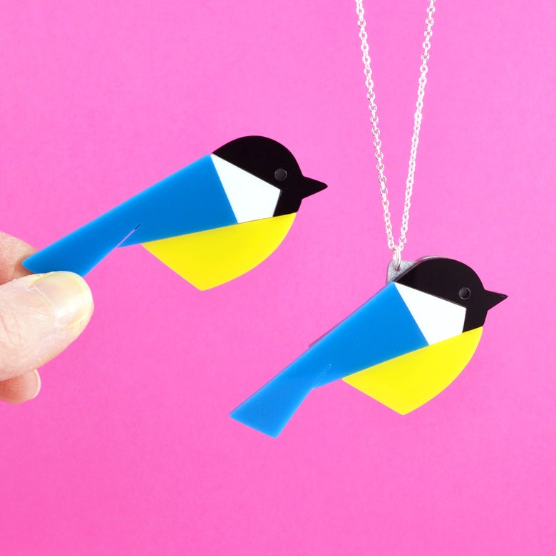Image of Great Tit Brooch or Necklace