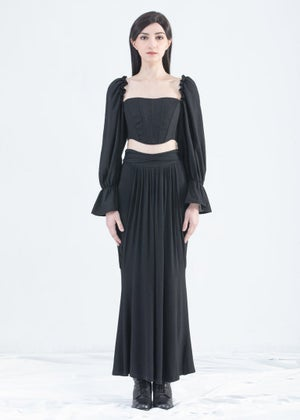 Image of SAMPLE SALE -  Corset Top With Ruffle Sleeve
