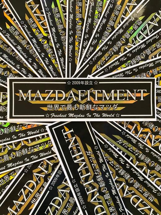 MAZDA FITMENT CLUB STICKER - SPECIAL SPOT OILSLICK