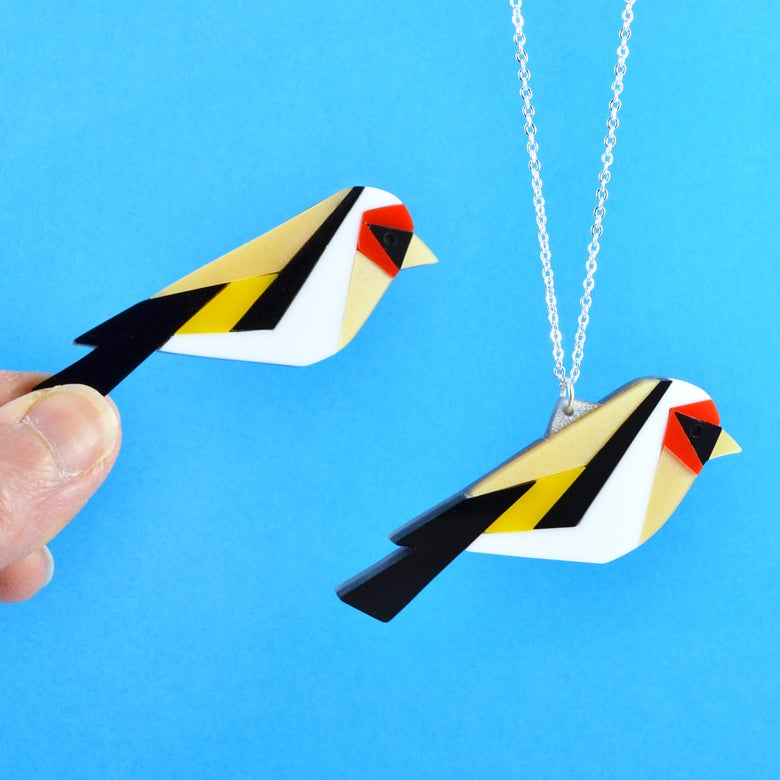 Image of Goldfinch Brooch or Necklace