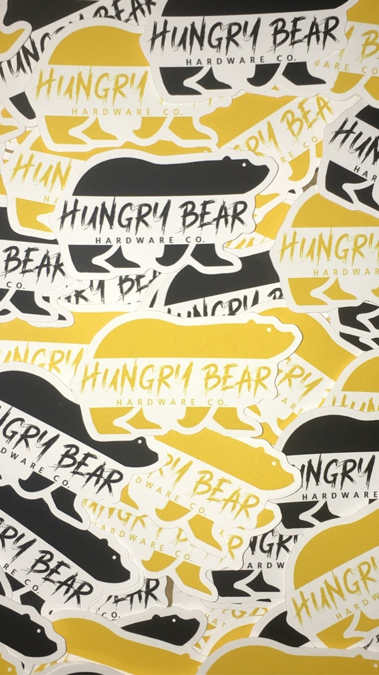 """Image of Hungry Bear 3"""" """" Clawz"""" sticker pack"""
