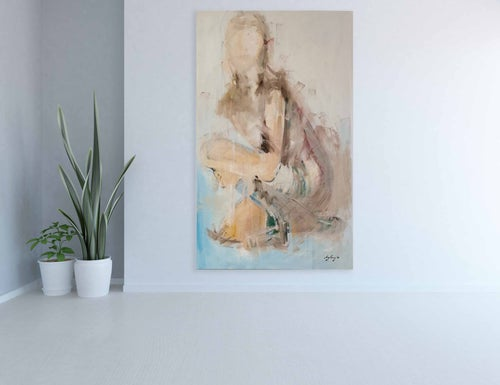 Image of Woman - Oil on Canvas - Original Painting