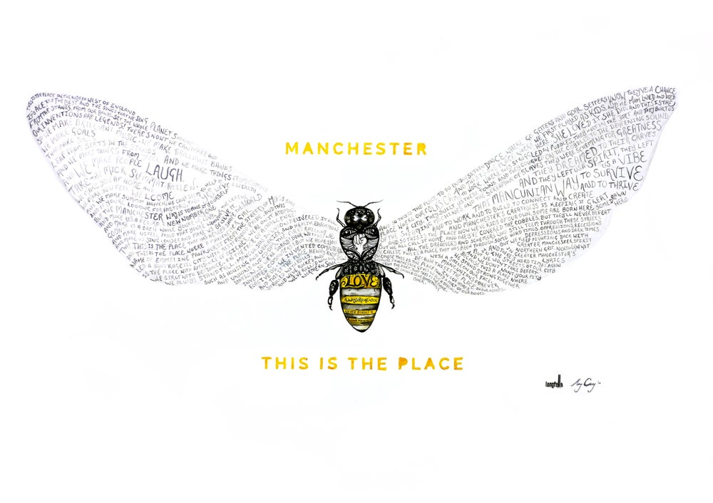 Image of Bee Love | This is the Place | Print