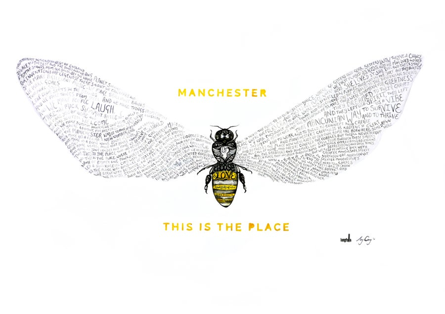 Image of Bee Love   This is the Place   Print