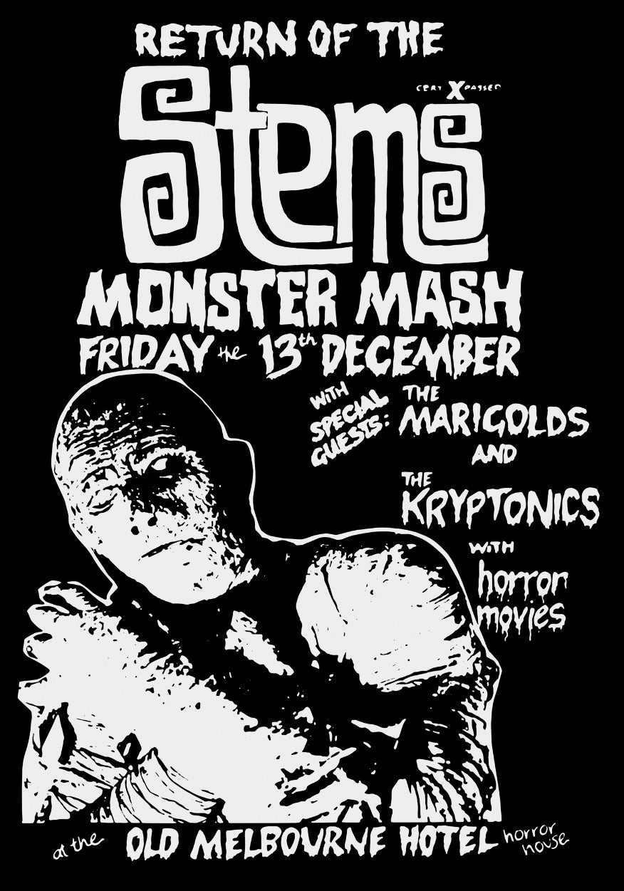 Image of THE STEMS ~ Monster Mash Poster
