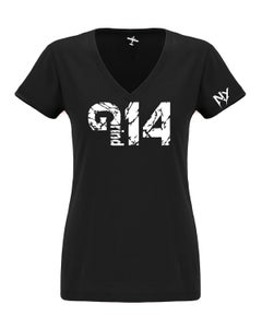 Image of WOMENS BLACK V-NECK TEES